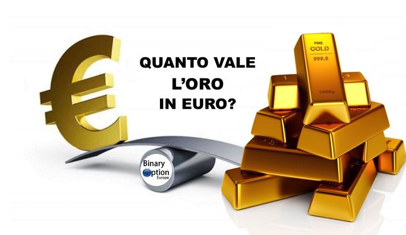 Quanto Vale Oro In Euro Al Grammo E Dollaro Oncia