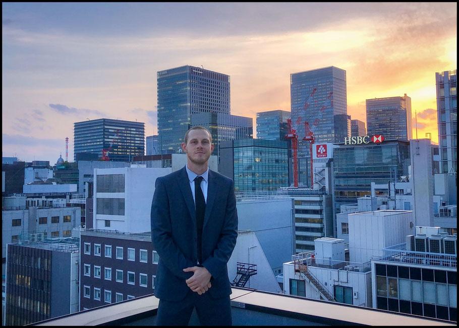 Stegman at his hotel in Nihonbashi — Photo Courtesy of Jared Stegman