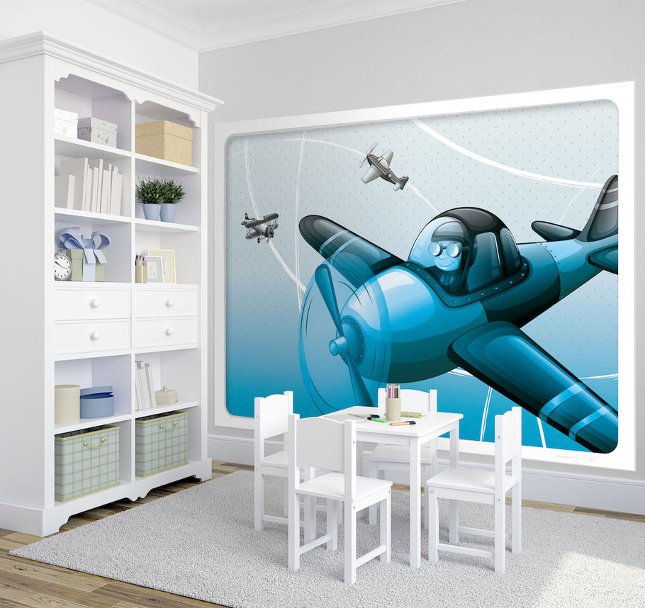 Wandbild PILOT  Kindertapeten  Wandbilder