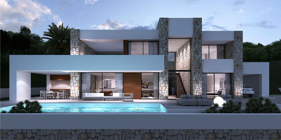 moderne Villa by Lifestyle Homes AG  moderne spanische villa mit Pool  Lifestyle Homes AG