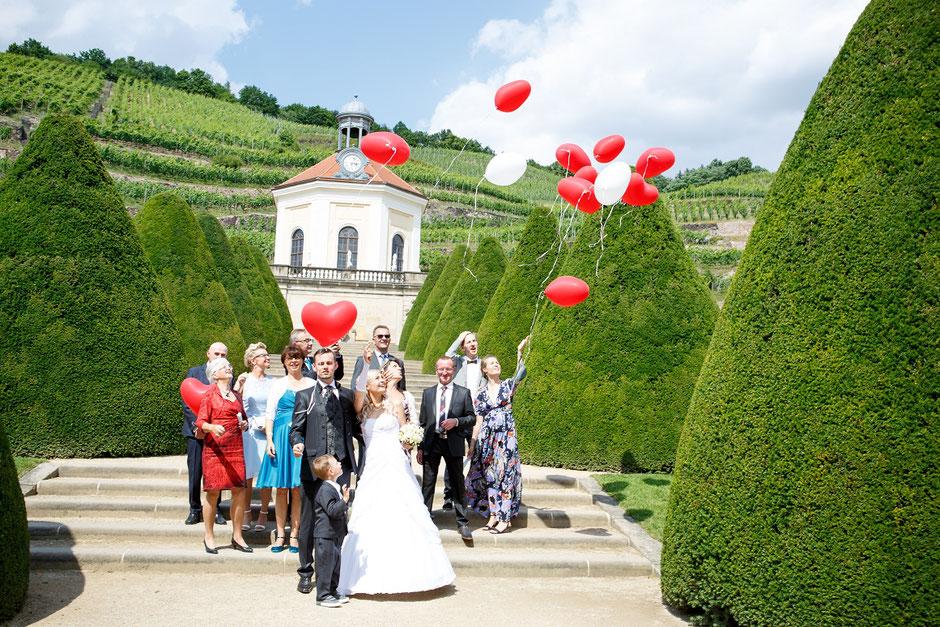 Susann und Stefan  Hochzeit auf Schloss Wackerbarth