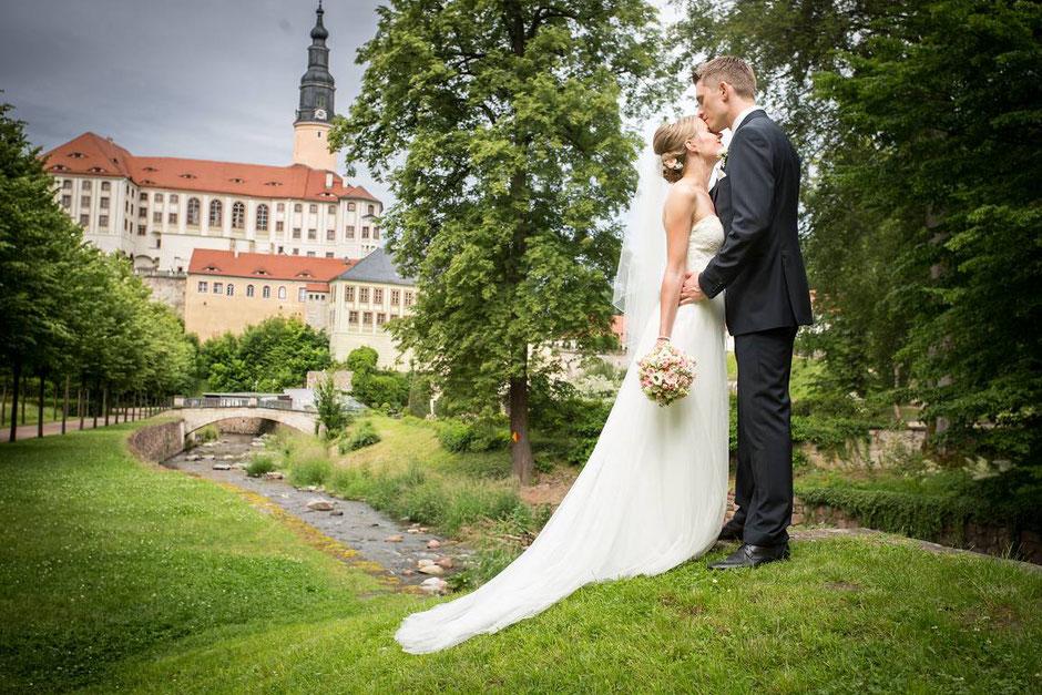 Hochzeit Schloss Weesenstein  Hochzeitsfotograf Dresden