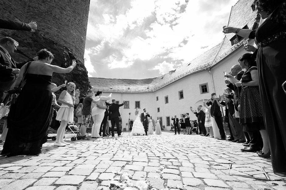 Emotionale Hochzeit auf Burg Scharfenstein im Erzgebirge