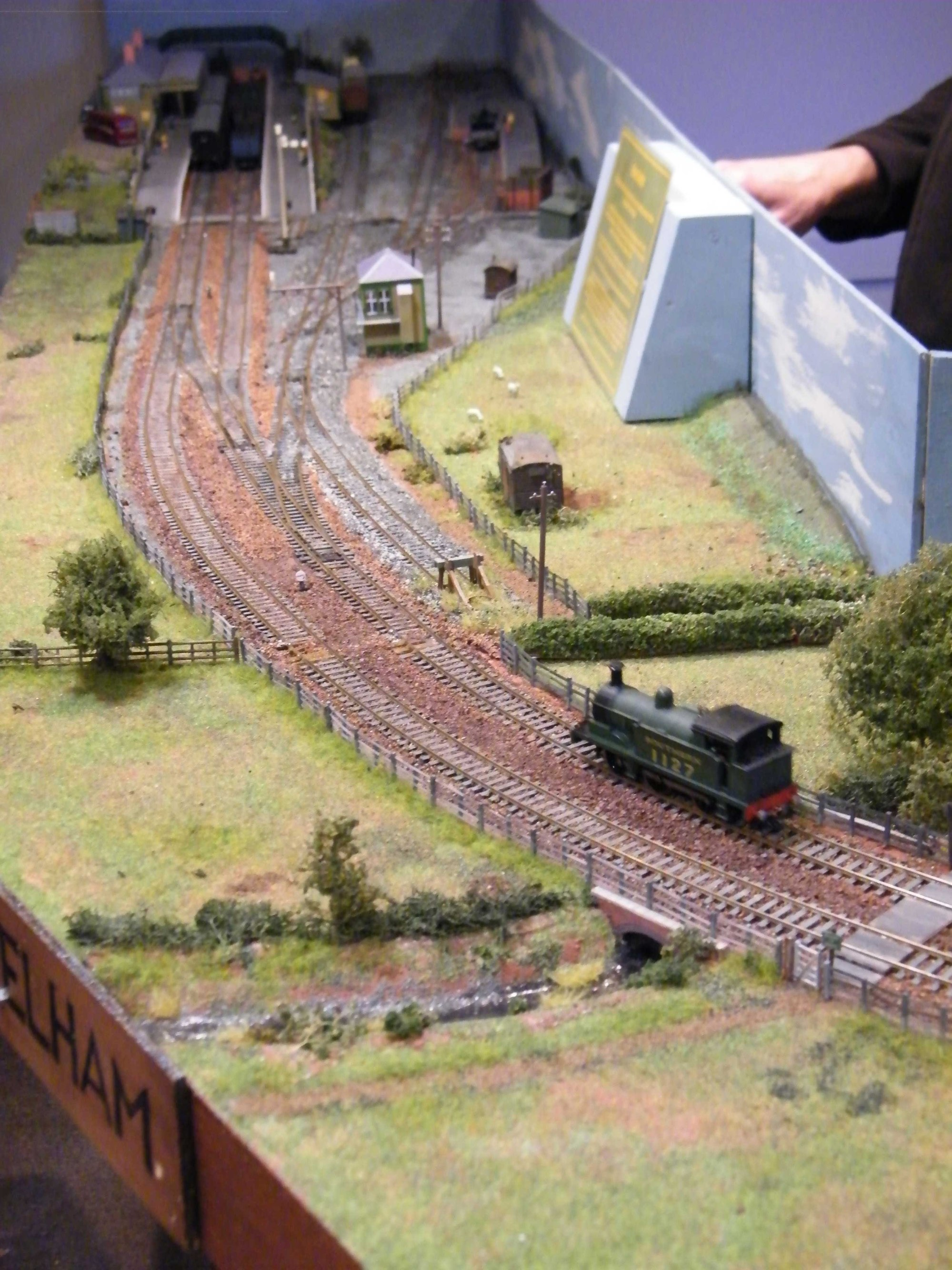 hight resolution of work on wiring elham valley model railway club s new layout