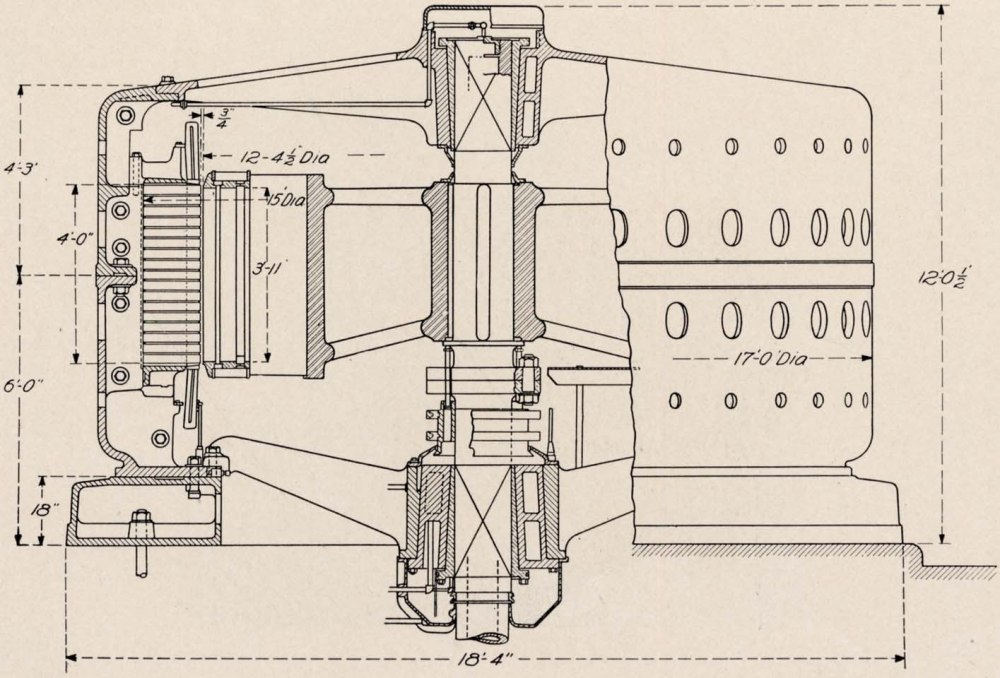 medium resolution of cross section assembly of 10 000 h p 10 000 volt generator building for canadian niagara falls