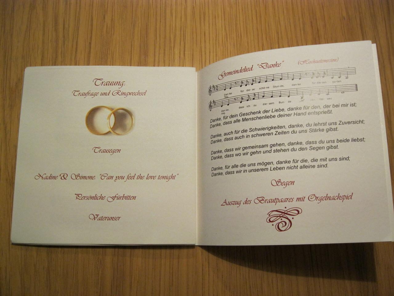 DruckService fr Einlegebltter  Hochzeitskarten fr