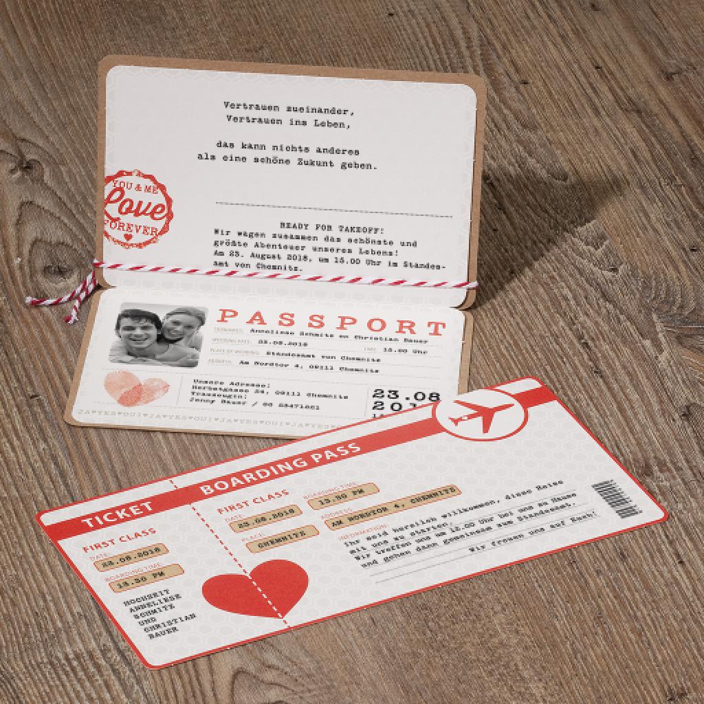 UrlaubReiseTickets  Hochzeitskarten fr Heilbronn