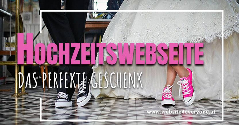 Hochzeitswebseite  Weddinghomepage das perfekte Geschenk