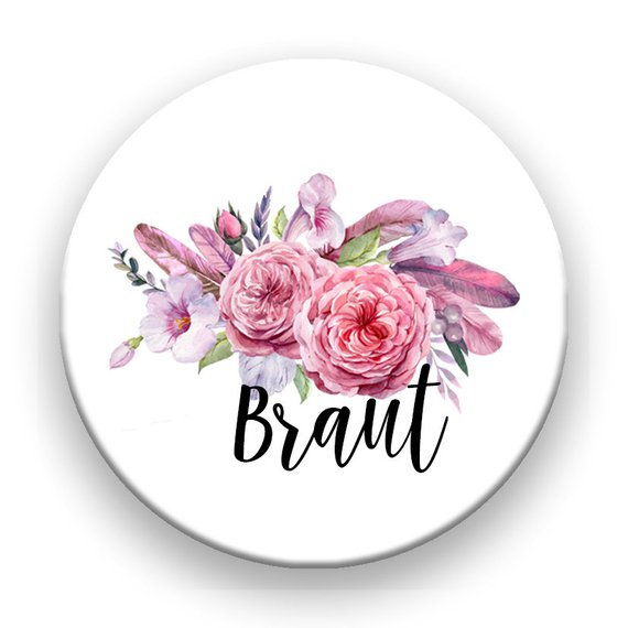 JGA Button Braut  Team Braut  Happy Wedding Art