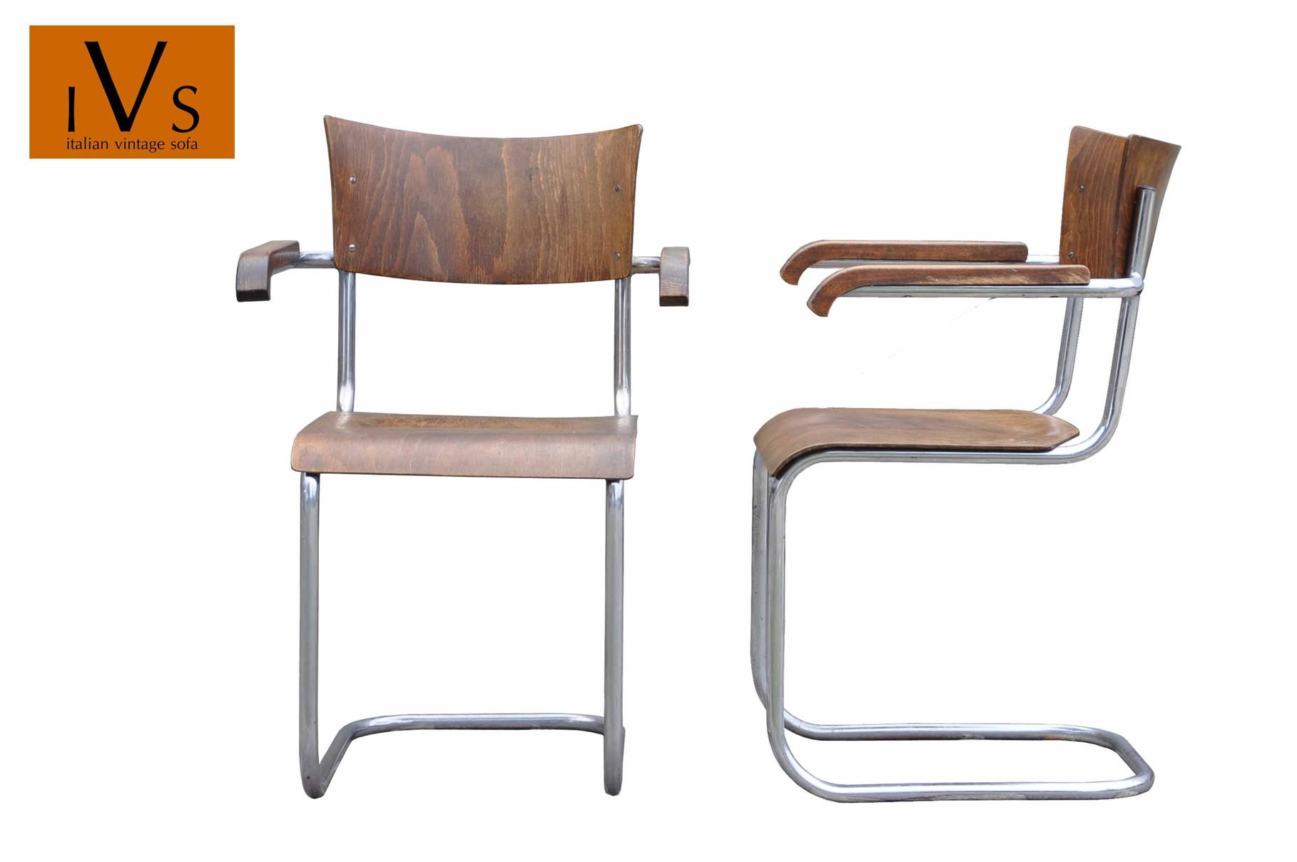 mart stam chair red velvet desk sedia cantilever bauhaus thonet b43f italian