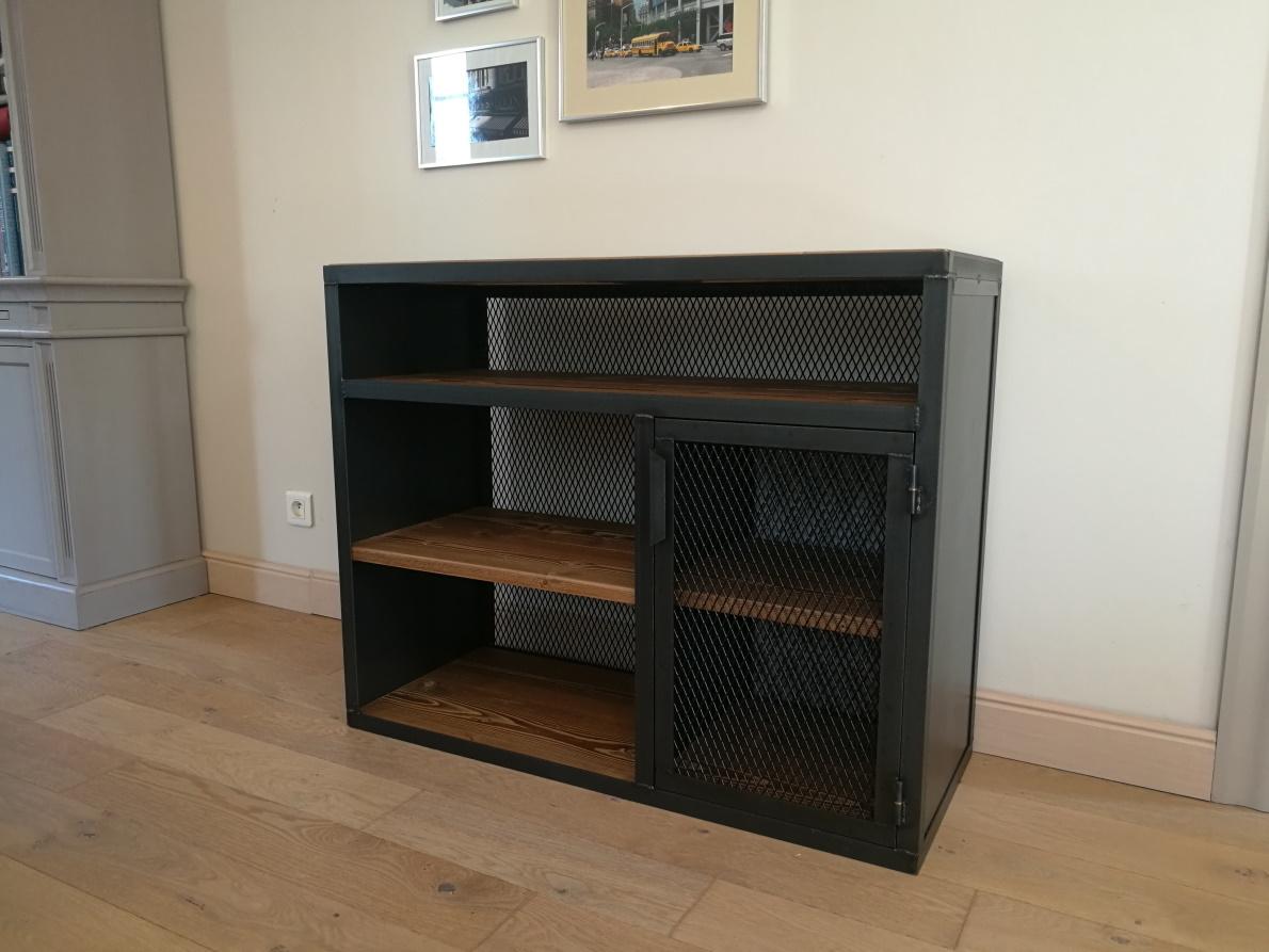 meubles tv industriels metalik bois