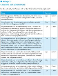 Checkliste zum Datenschutz: - +++++++ DCVerlag e.K.