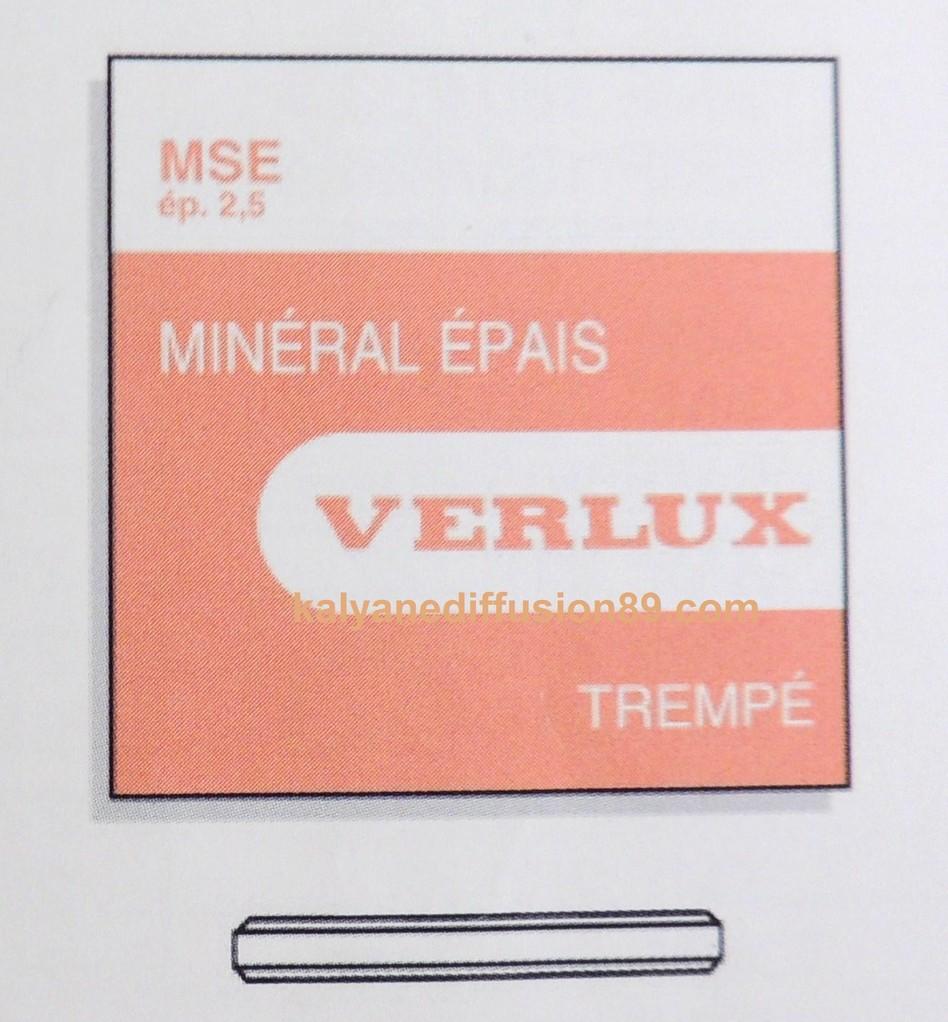 verres de montre mineraux plats
