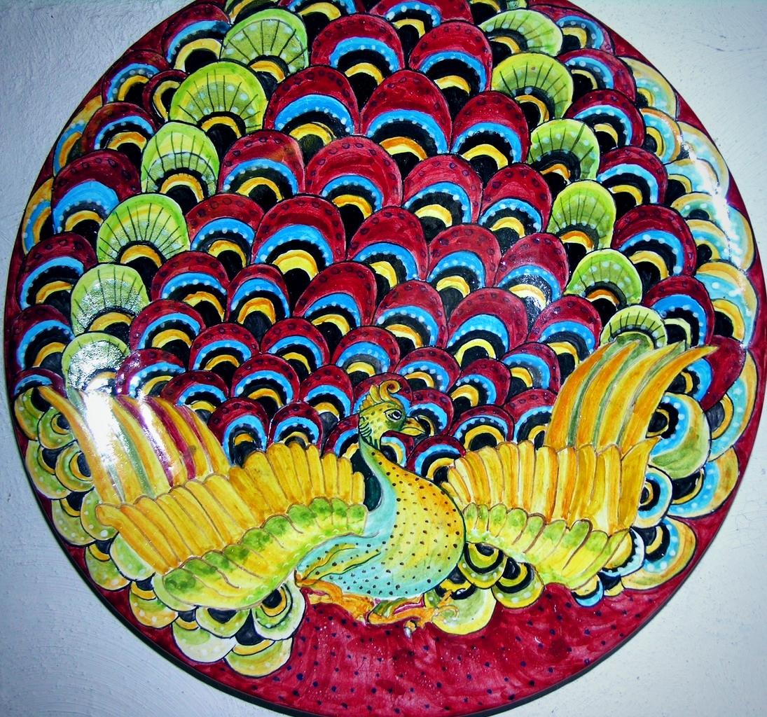 Piatti di ceramica artistica maiolica riproduzione ceramiche artistiche  ceramica artistica