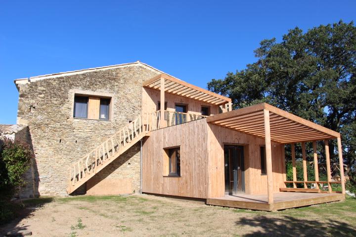 Extension De La Grange En Ossature Bois Maison Dhtes