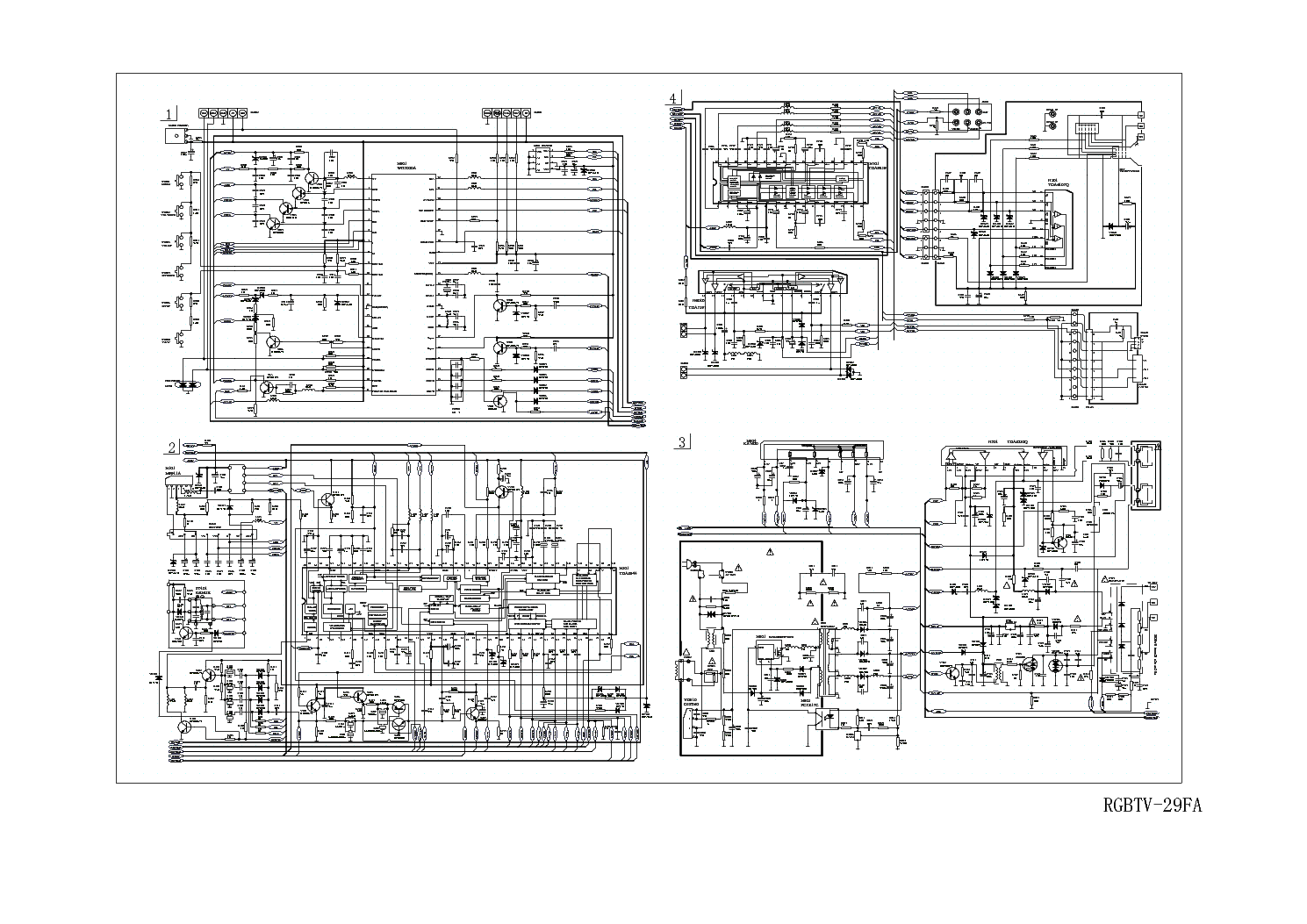 hight resolution of haier tv 29fa circuit diagram