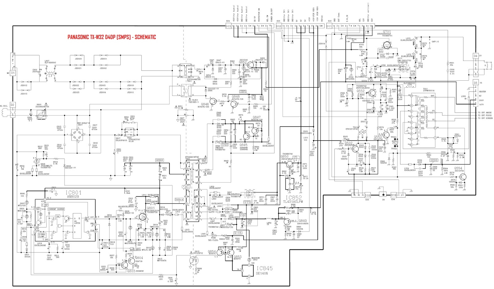 Panasonic Tv Circuit Board Diagrams Schematics
