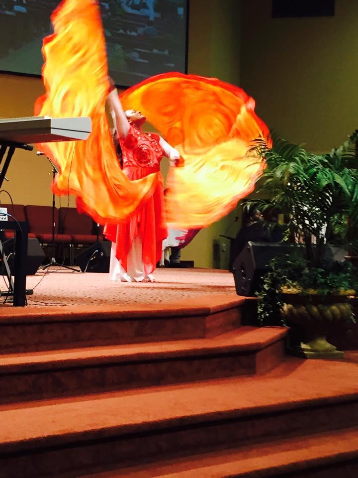 Fire Flex Wings  3 Strand Cord Silks  Glowing Silk Flags  Billows based on the Bible Jesus