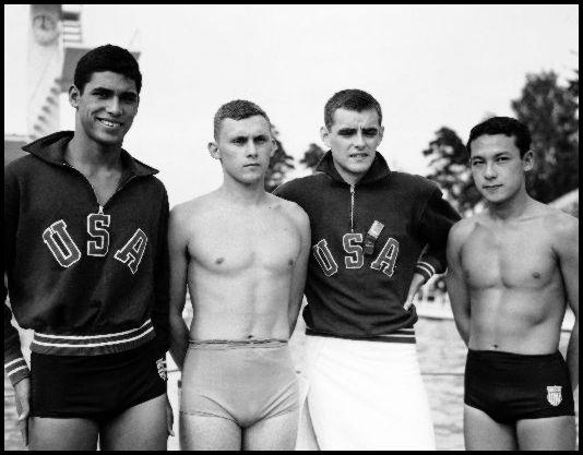 1952 US Gold medal team (Bill Woolsey far left) - Lehtikuva picture agency