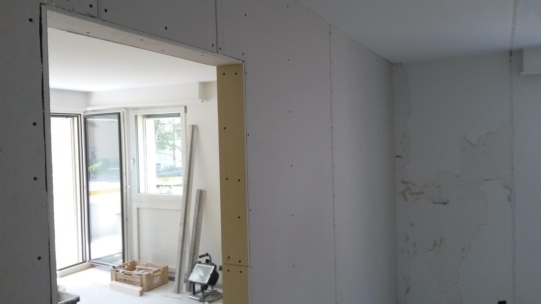 Leichtbautrennwand: Unterkonstruktion Mit Metallprofilen