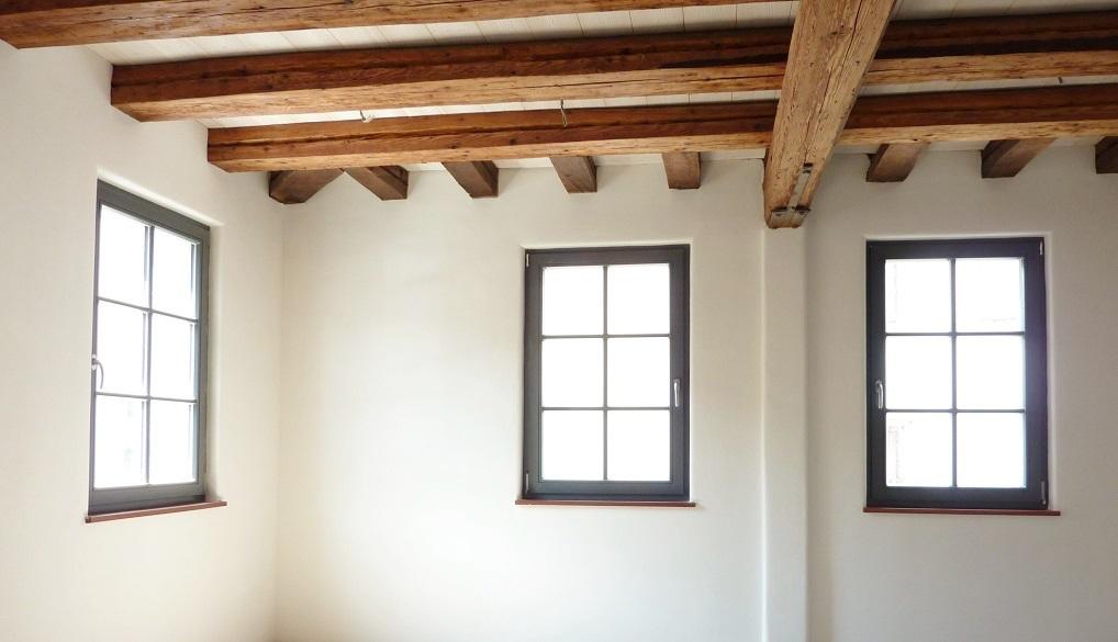 Lehmbau Neuhaus  Lehmputz Fachwerkhaus Sanierung Wandheizung mit Lehm