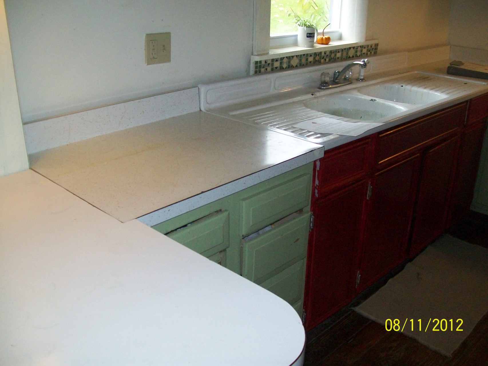 reglaze kitchen sink bench for table countertop resurfacing - dennie's resurfacing, tub & tile ...