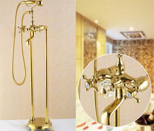 Gold Brass Details About Free Floor Standing Bathroom Tub