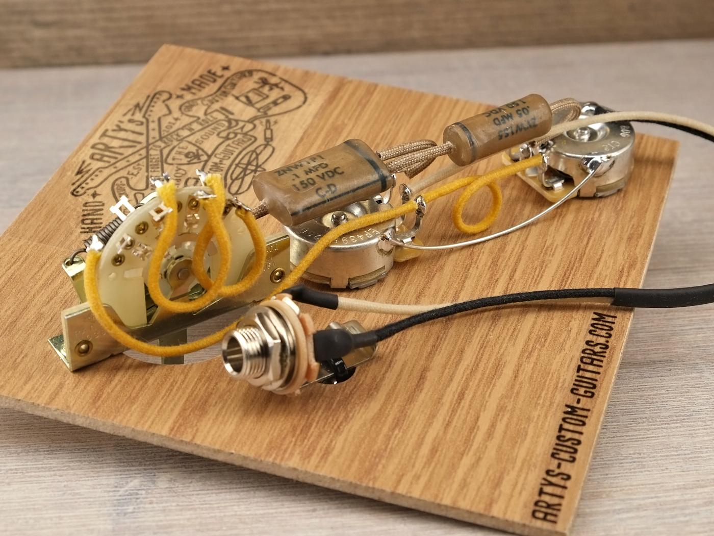 hight resolution of prewired harness 1953 65 dark circuit telecaster