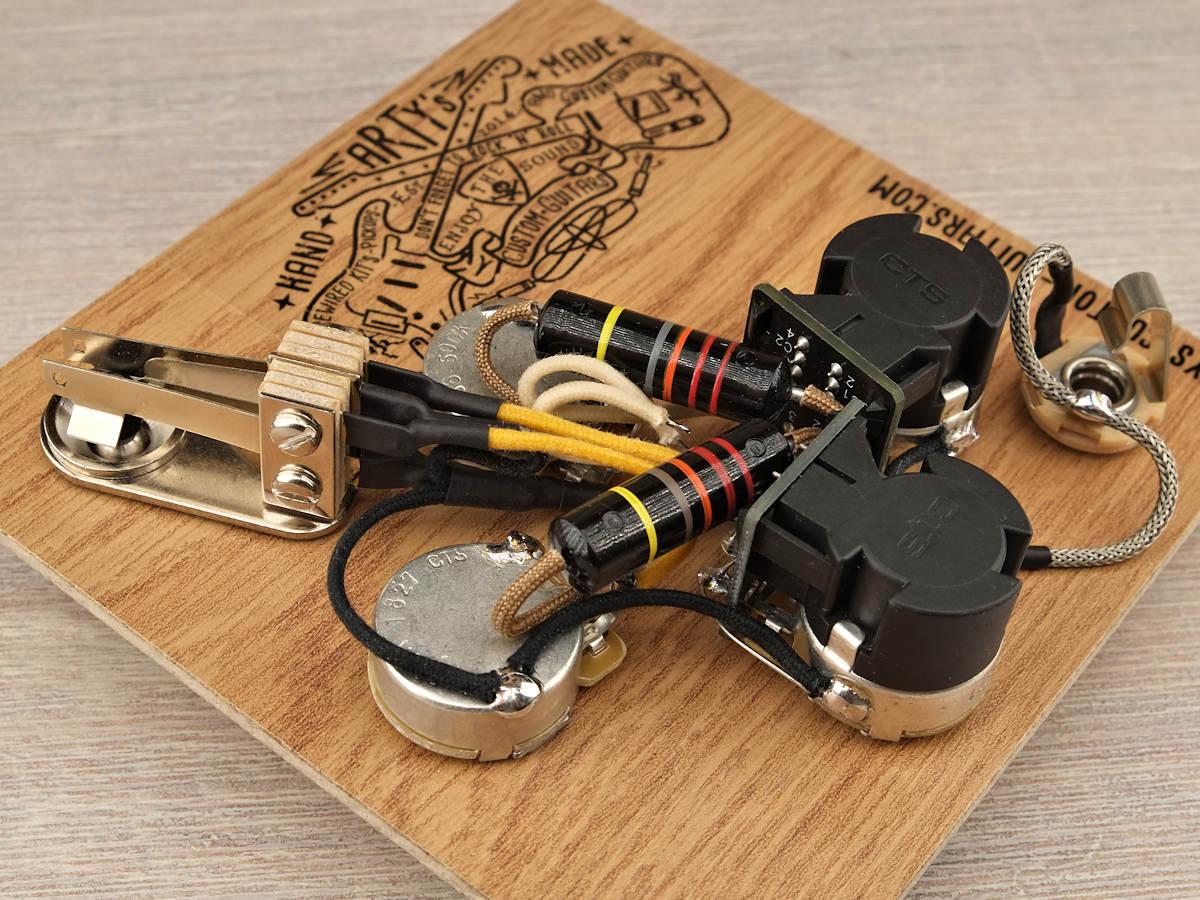 hight resolution of prewired kit gibson sg coil split