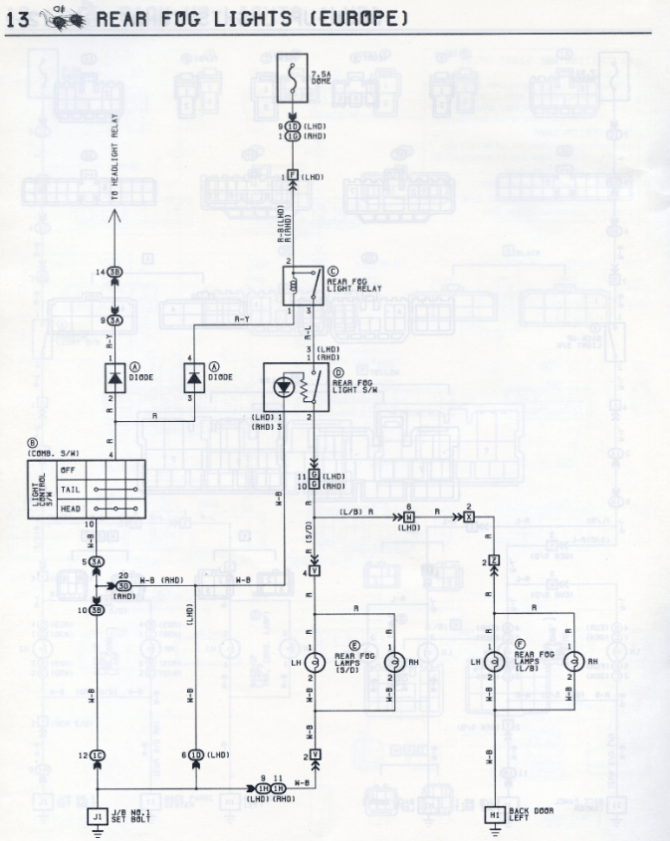 toyota corona wiring diagrams  car electrical wiring diagram