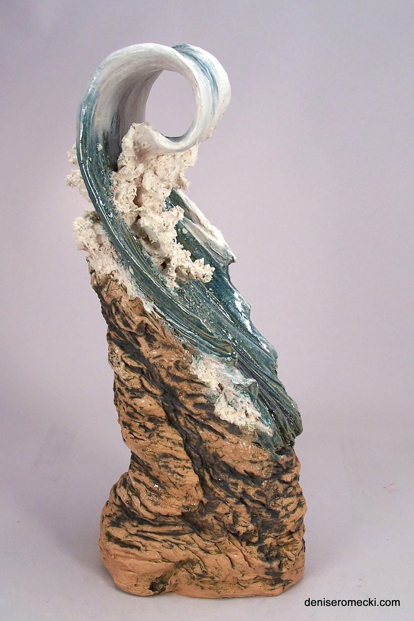 Waves Denise Romecki Ceramic Sculpture