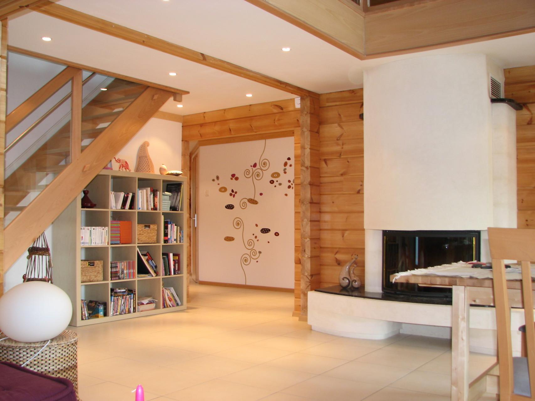 Beautiful interieur maison bois contemporaine ideas for Maison interieur bois