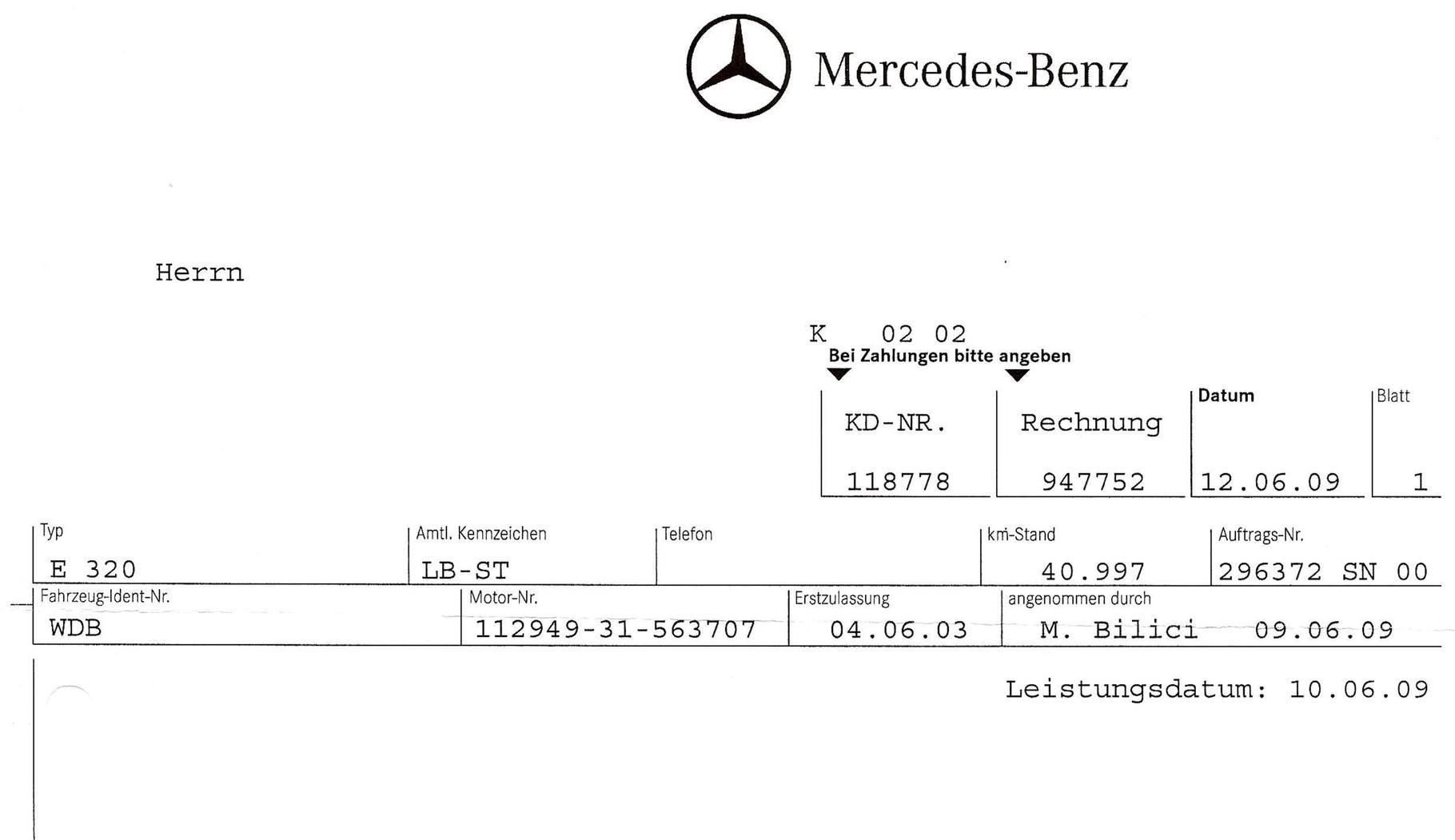 Vertrag Rechnung Sur Automobilefr Autoscout24fr