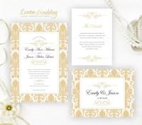 Gold Wedding Invitation Sets - LemonWedding