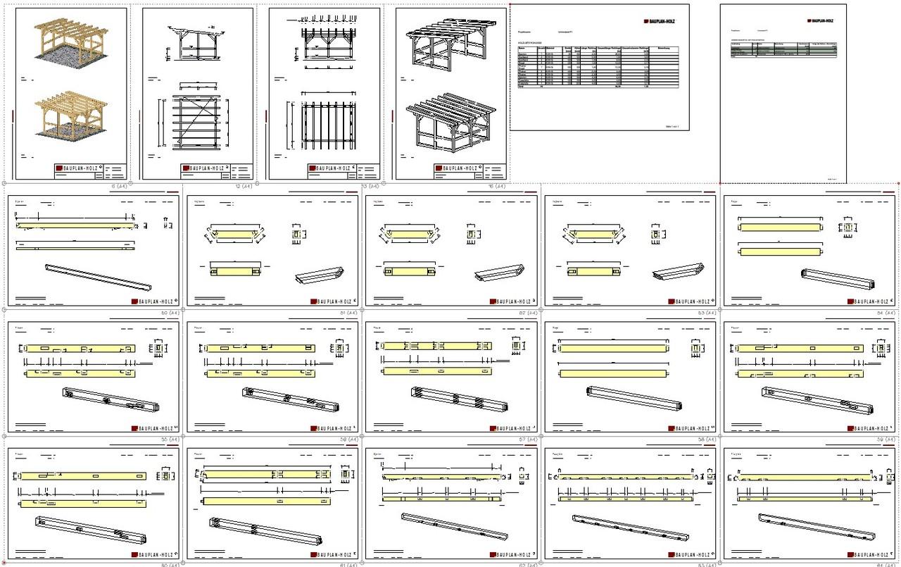 Unterstand Holz Bauanleitung Bauplan Holz