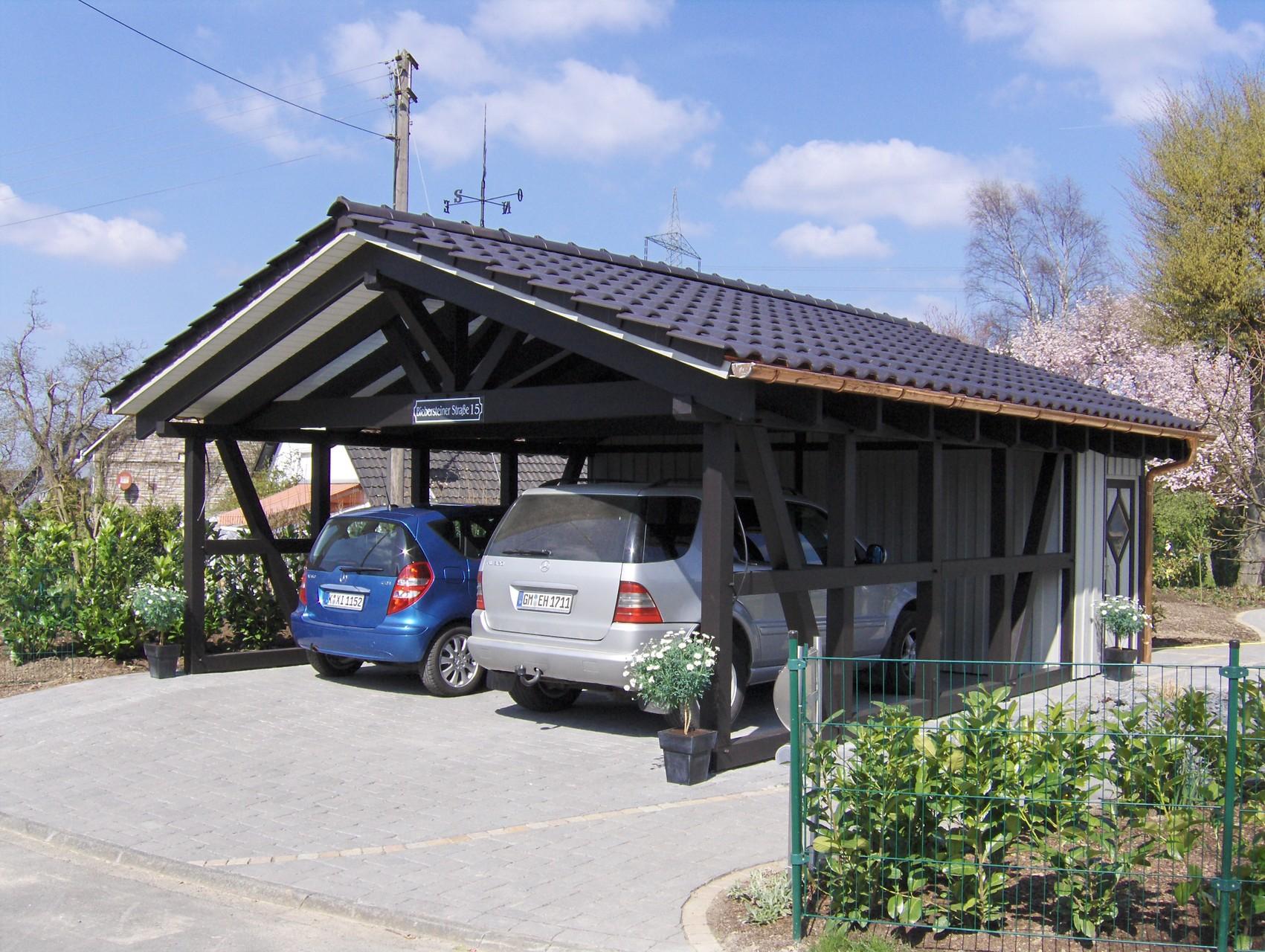 Spitzdach Carport Nach Ihren Wünschen - Solarterrassen & Carportwerk