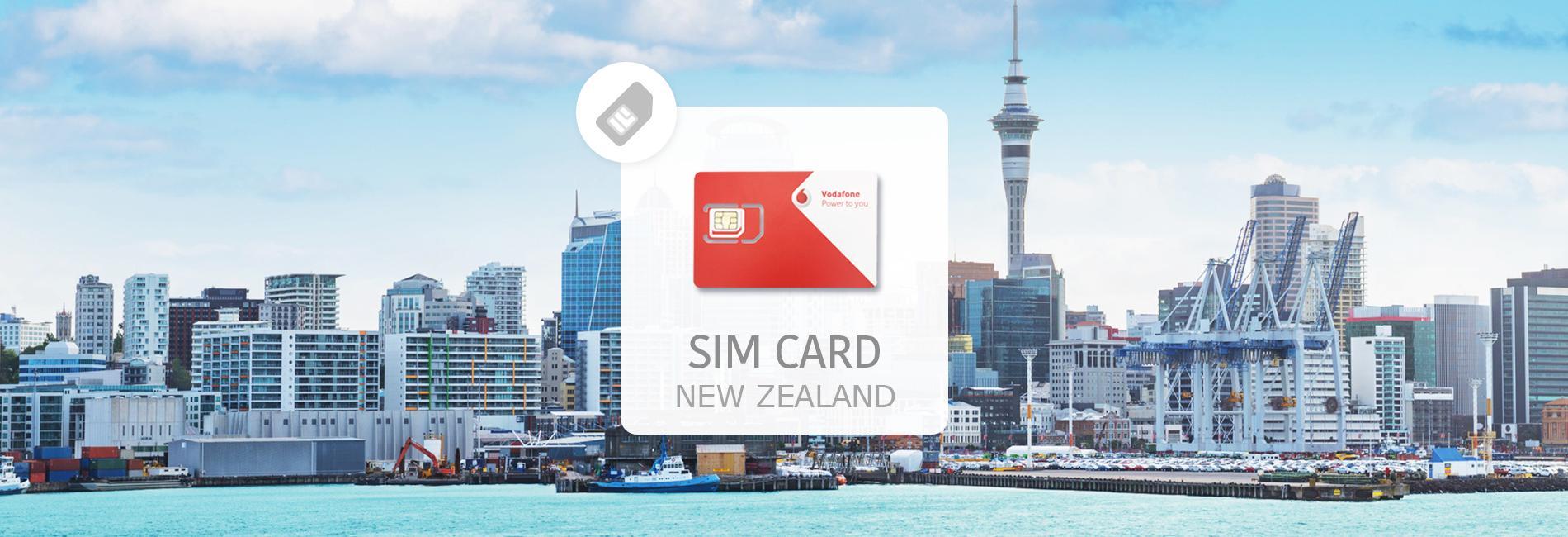 紐西蘭網卡 Vodafone 上網電話卡  馬來西亞寄送 - KKday