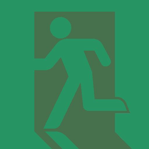 原來逃生出口標誌「奔跑人」是源於日本!