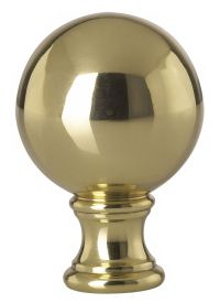 Solid Brass Ball Lamp Shade Finial #09938