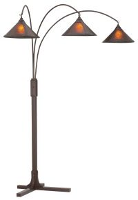 Mission Arc Mica Shade 3-Light Floor Lamp - #15971 | www ...