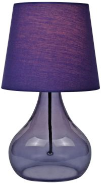 Lite Source Purple Glass Jar Table Lamp