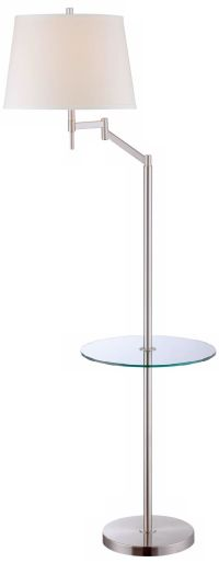 Lite Source Eveleen Floor Lamp with Tray Table - #2C163 ...