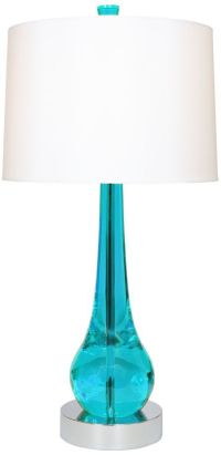 Van Teal Charming Turquoise And Chrome Modern Table Lamp ...