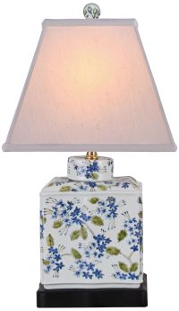 Blue And Green Rectangular Porcelain Jar Table Lamp ...