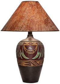 Marigold West Handcrafted Dark Southwest Table Lamp ...