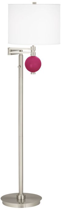 Marville Mission Style Swing Arm Floor Lamp With End Table