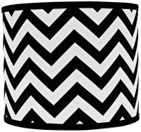 Black and White Chevron Drum Lamp Shade 14x14x11 (Spider ...