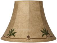 Palm Leaf Faux Leather Lamp Shade 9x18x13 (Spider ...