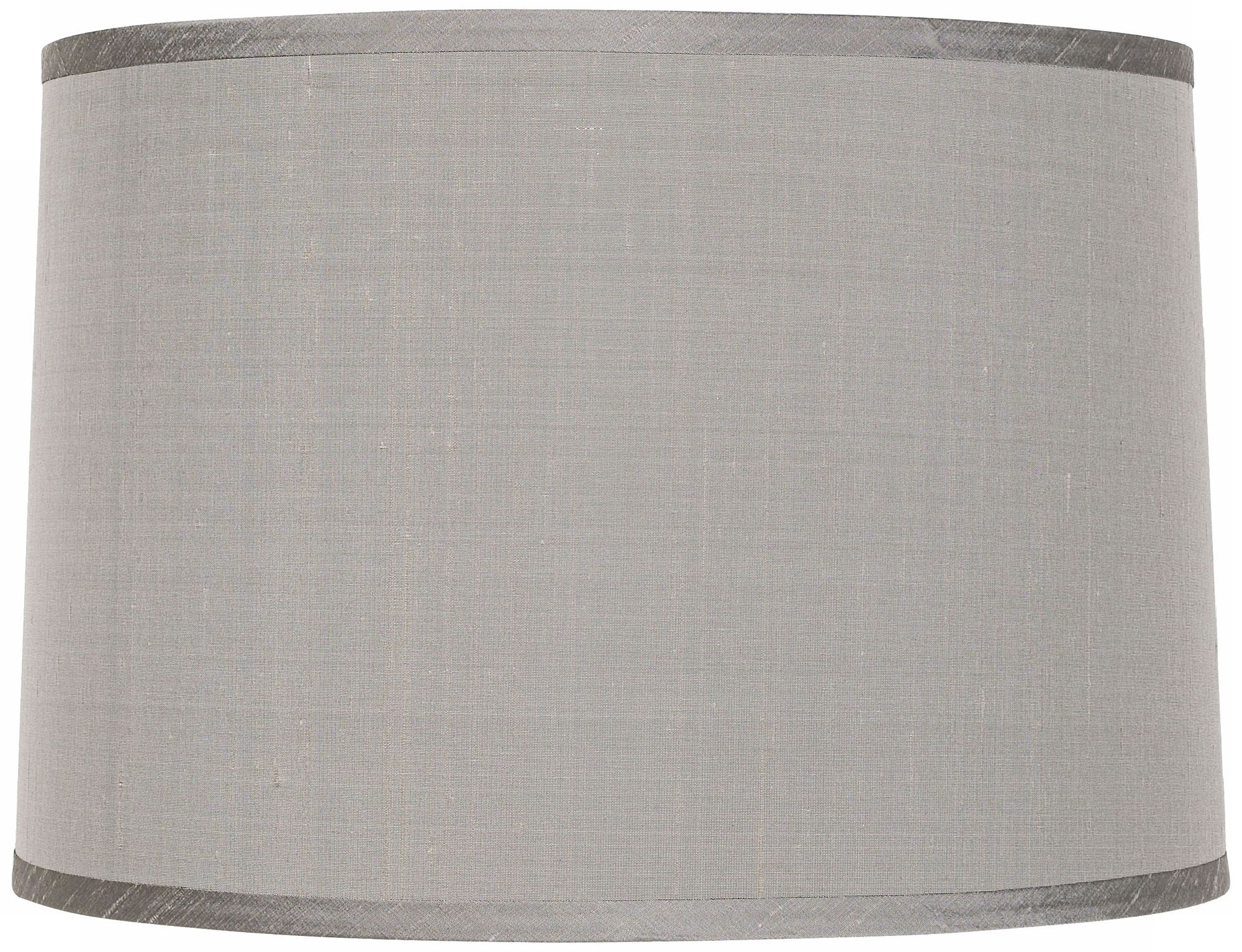 Platinum Grey Dupioni Lamp Shade 15x16x11x11 (Spider)