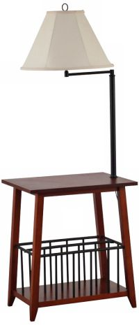Seville Swing Arm Floor Lamp End Table